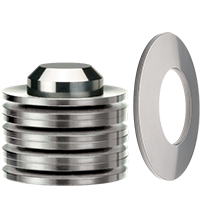 Disc Springs are available as single Discs or pre-stacked in custom configurations.